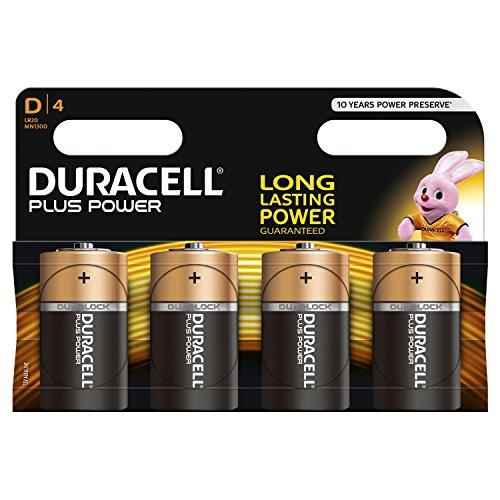 Duracell Batterie D,Mono (LR20,MN1300) Plus Power;4 Pack