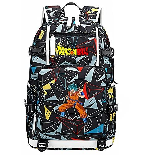 ZZGOO-LL Dragon Ball Super Son Goku/Vegeta IV/Torankusu Backpack Casual Rucksack Waterproof Business Travel with USB Unisex-G