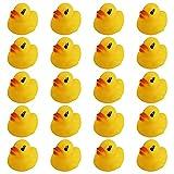 QPEY Mini Rubber Ducks,20Pcs Little Rubber Ducks Tiny Baby Shower Rubber Ducks,Squeak Fun Rubber Ducks in Bulk Bath Toy Float Decorations for Shower Birthday Party Favors