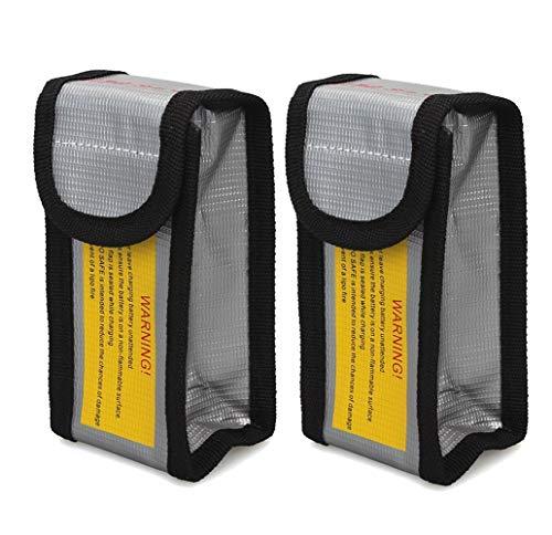 Lipo Batterie Safe Bag Feuerfest Explosionsgeschützte, Glaray Lipo Batterie Guard Safe Tasche Beutel Sack für Charge & Storage, 125x64x50mm, 2 Stück