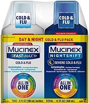 2-Pack Mucinex Maximum Strength All-in-One Multi Symptom Relief Liquid