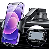 [2021 Upgraded] VANMASS Phone Holder for Car,Industrial-Strength Suction Cup Car Phone Holder Mount,Dashboard Windshield Air Vent,Compatible with All iPhone & Android Cell Phones,Space Gray