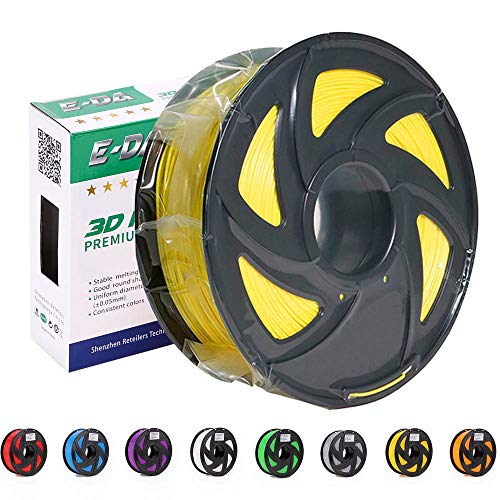 E-DA Premium quality ABS 3D printer filament 1.75mm 1KG/2.2lbs suitable for Most 3D printers (Yellow)