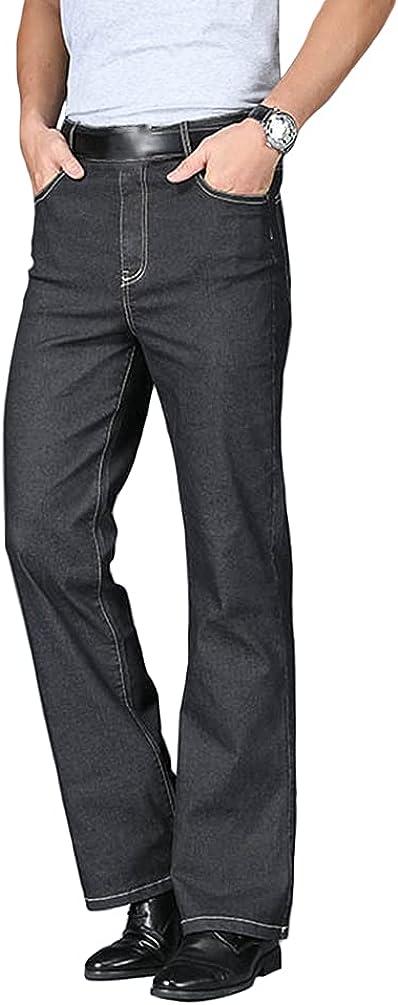 online shopping HAORUN Men Bell Bottom Jeans Slim 70s Den 60s low-pricing Flared Fit Vintage