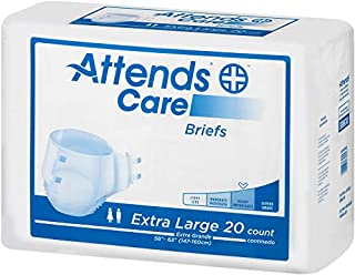 Attends Care Briefs with Odor-Shield for Adult Incontinence Care, XL, Unisex, 60Count