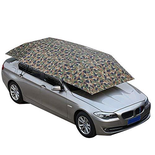 Nfudishpu Vier-Jahreszeiten-Vollautomatische Autozeltabdeckung Carport Zusammengeklappter, tragbarer, beweglicher Carport-Regenschirm Zeltauto Sonnenschutz mit UV-Schutz, wasserdicht, winddicht, Schne
