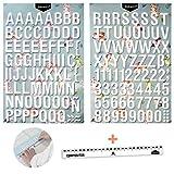 PARAES® Letras Adhesivas Blancas con Volumen - (32 mm de Altura) 127 Caracteres Letras Decorativas Números Blancos - Scrapbooking Materiales - Material Manualidades