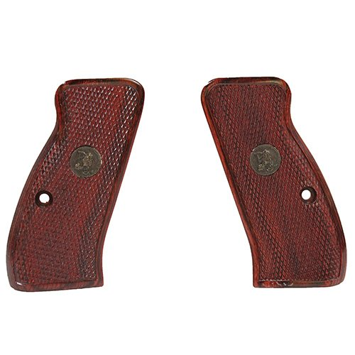Pachmayr 63230 Renegade Wood Laminate Pistol Grips, CZ 75 Compact, Rosewood, Checkered