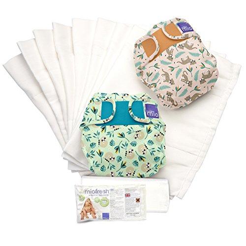 Bambino Mio, mioduo set de pañales reutilizables, selva tropical a, talla 2 (9 kg+)
