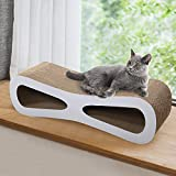 COZIWOW Cat Scratching Pad Post Cardboard,Jumbo Cardboard Scratch Cat Scratcher Lounge House Bed Couch with Catnip