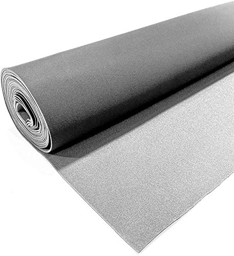 Dark Gray/Charcoal Auto Headliner 3/16' Foam Backing Fabric Material 60' Wide x 120' Long (10 Feet)