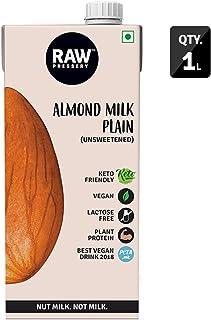 Raw Pressery Almond Milk, Plain Unsweetened, 1L Pouch