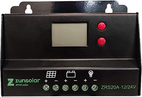 ZunSolar 20 Ampere 12/24 Volts PWM Solar Charge Controller
