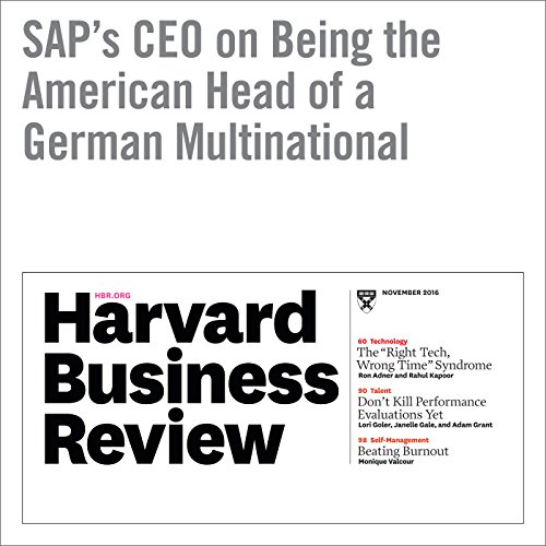 『SAP's CEO on Being the American Head of a German Multinational』のカバーアート