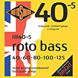 Rotosound Nickel Medium Gauge Roundwound Bass Strings (40 60 80 100 125)