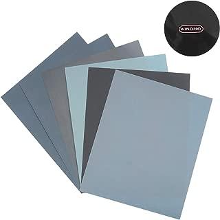 紙やすり セット 研磨ペーパー 耐水ペーパー 大工道具 用品 6枚 (1500 2000 2500 3000 5000 8000 各1枚)