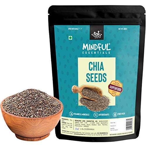 Mindful Chia Seeds for Rich in Omega -3 800g (Pack of 2 x 400g)
