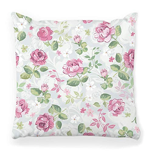 Fantastic Fairy Soft Square Pillow Cover 20x20 Abstract Floral Pattern Texture Flower Rose Paint Repeat Spring Beauty Garden Leaf Botanical