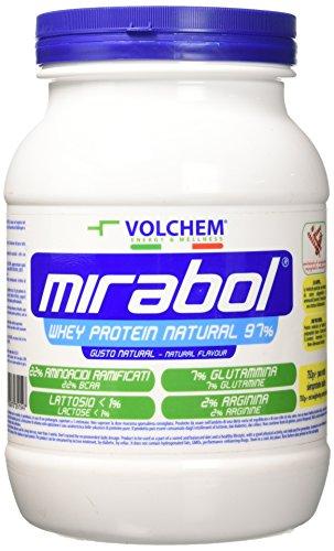 Volchem Mirabol Whey Protein 97%, Bianco, Natural, 750 Grammi