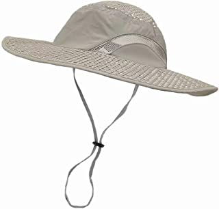 LETHMIK Sunscreen Cooling Hat, Heatstroke Protection Cap, Wide Brim Boonie Hat for Fishing, Hiking, Camping, Gardening, Beach