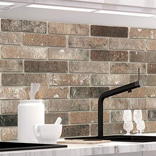 StickerProfis Küchenrückwand selbstklebend - LOFT Brown - 1.5mm, Versteift, alle Untergründe, Hart PET Material, Premium 60 x 60cm