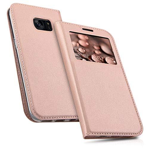 kwmobile Hülle kompatibel mit Samsung Galaxy S7 - Handyhülle Handy Case Schutzhülle Klapphülle in Rosegold