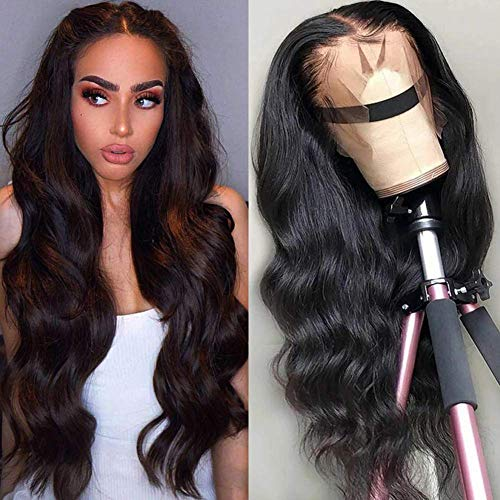 Jaycee Brazilian Human Hair Lace Front Wigs For Black Women Body Wave Hair T Part Lace Wigs 150% Density Natural Hairline 32 Inch Brazilian Virgin Hair natural color