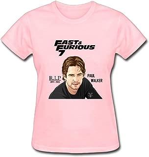 Duanfu one Last Ride Furious 7 Paul Walker Women's Cotton Short Sleeve T-Shirt