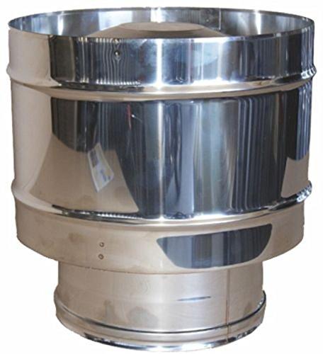 MISTERMOBY CHAPEAU H CERTIFICAT EN ACIER INOX CHEMINEE ENTONNOIR ROND 150 MM MALE