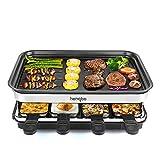 Raclette Grill für 8 Personen, 8 Mini Raclette Pfännchen zum Kochen von Käse und Beilagen & Ein...