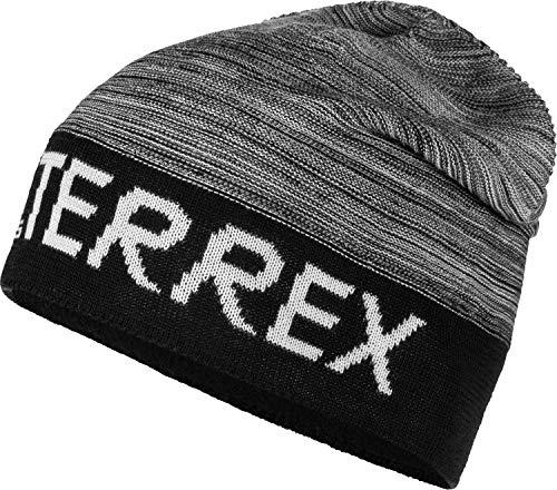 adidas Terrex Logo Beanie Grau, Kopfbedeckung, Größe S - OSFW - Farbe Black - White