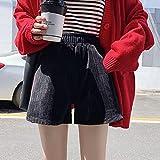 ShSnnwrl Pantalones Cortos de Mujer Shorts Womens Spring Autumn Elastic Waist Wide Leg Loose Leisure Solid Elegant Soft Female Stre