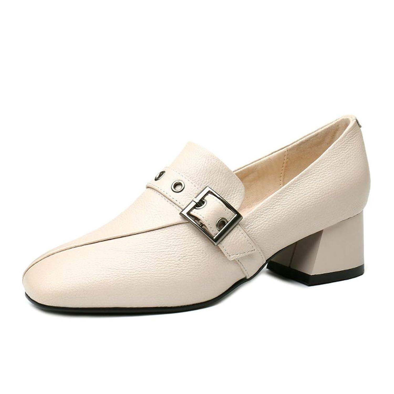 [イグル] スクエアトゥ 革靴 メタルバックル 4.5cmヒール パンプス レディース 痛くない 歩きやすい 美脚 幅広 フォーマル 柔らかい 通勤 OL 快適 キレイ 上品 大人カジュアル 細見え ローファー疲れにくい 歩きやすい 着痩せ 美足