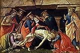 Taikang Puzzle 500 Piezas, para Adultos Niños De Madera Montaje Personalizado Rompecabezas, Alessandro Botticelli - Lamentación sobre Cristo Muerto