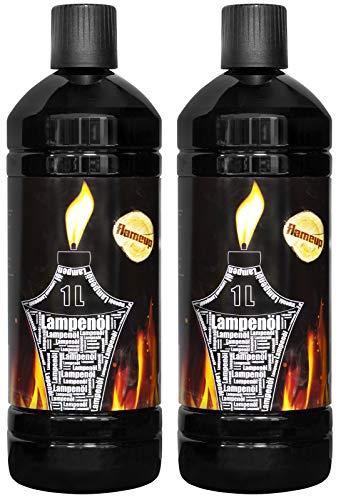 Lampenoel Lampenöl Petroleum Lampe Garten Oel Fackeln Fackel Laterne Öl Innen Camping 2 Liter Flasche Outdoor Oil Öllampe flüssig Gartenfackeln Flameup