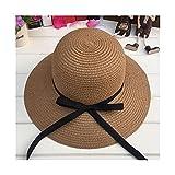 Mujeres Sombrero Padre-niño Sombrero de verano para mujer Sombrero de paja Playa Sunhat Travel Bucke...