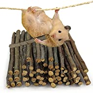 Qune Apple Sticks 200g,Small Animals Molar Wood Chew Toys , Apple Sticks Pet Snacks,Apple Chew Stick...