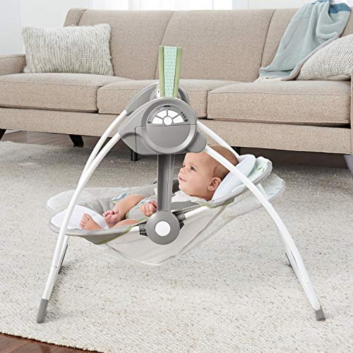 51E+Rfau4RL 10 Best Portable Baby Swings on the Market 2021 Review