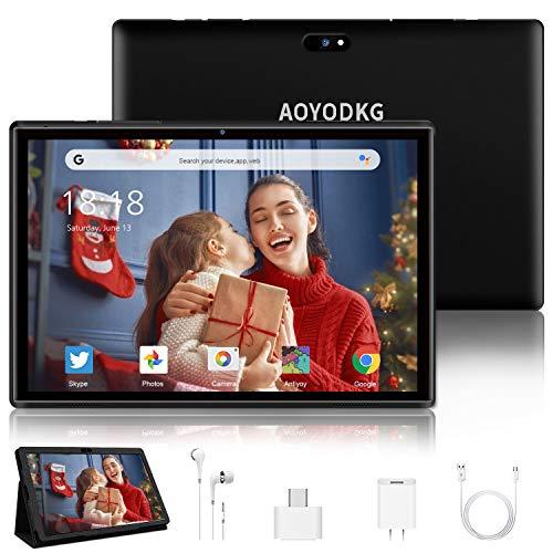 Tablet 10.1 Pulgadas 4G LTE Call,Android 9.0 Google Certificación GMS Tablets,3Go RAM + 32/128Go ROM,Quad Core,8000mAh Batterie,5MP...