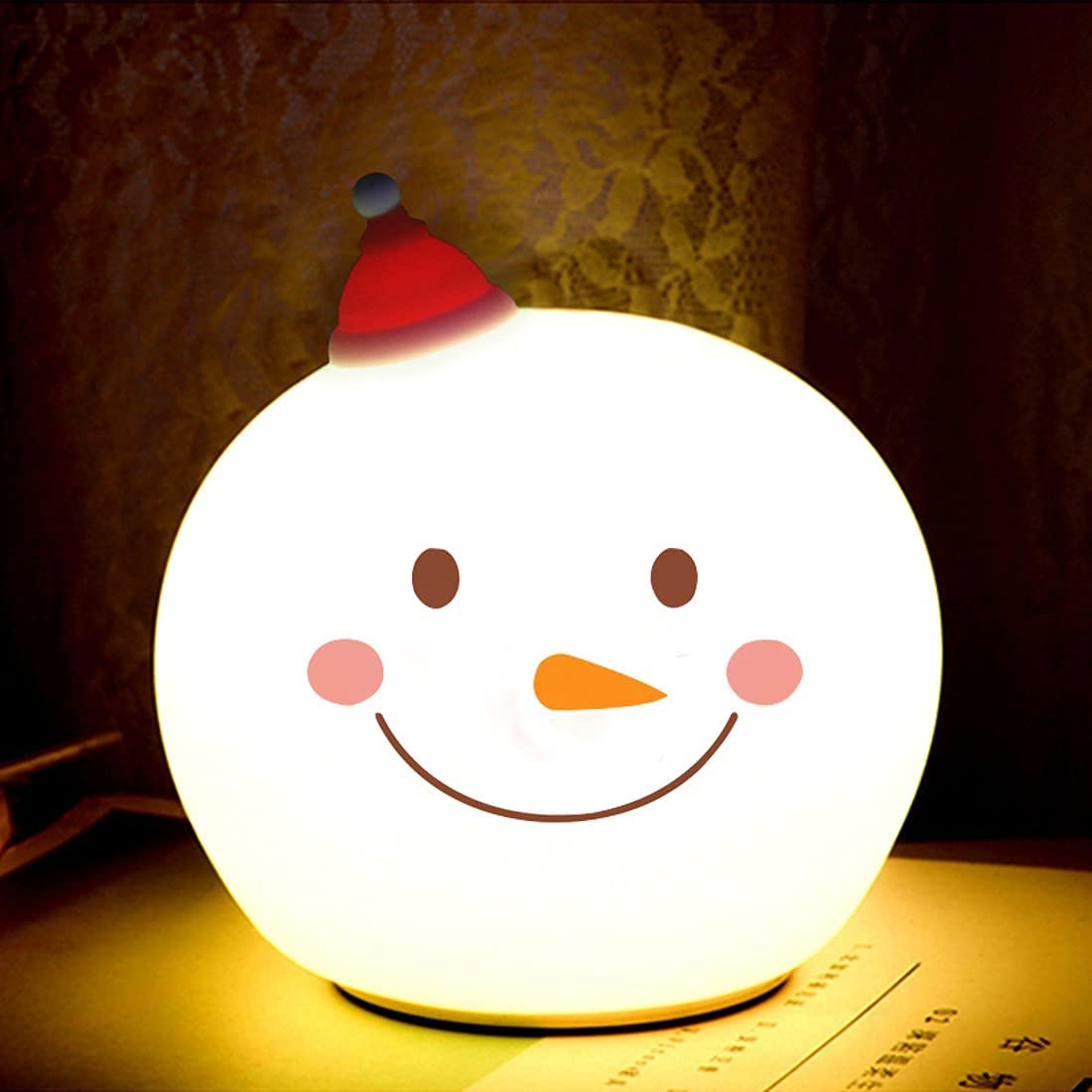 Snowman Night Light for Kids Bargain Nursery with 4 LED Max 61% OFF Mo Lights