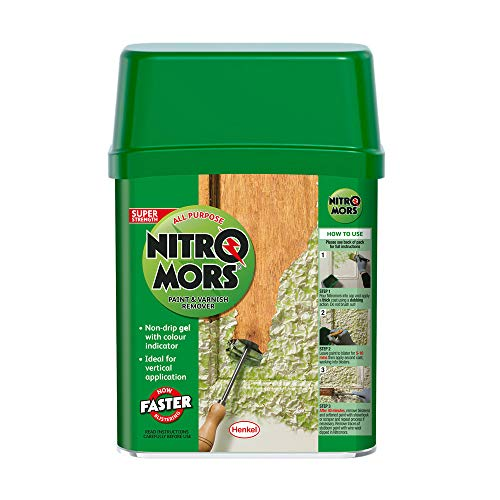 Nitromors All Purpose Paint and Varnish Remover, Paint Remover for Wood, Metal and Masonry, High-Strength Paint Stripper with Colour Indicator, Non-Drip Paint Remover Gel, 1 x 750 ml Tin