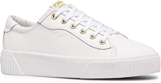 Keds womens Crew Kick Alto Sneaker, White Leather, 6.5 US