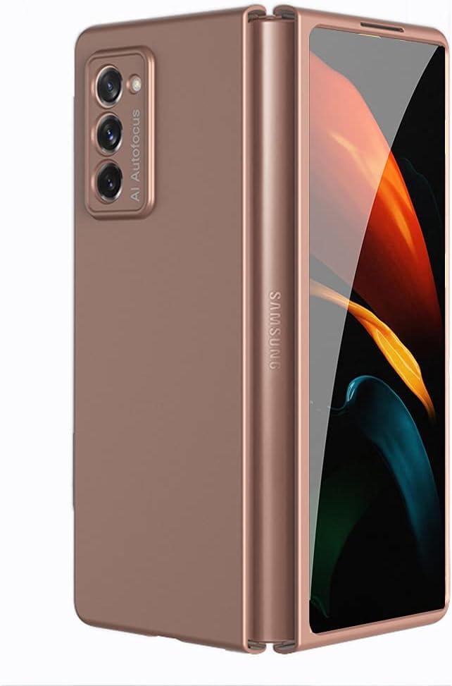 Slim Plating Case for Samsung Galaxy Z Fold 2 5G Hard PC Transparent Back Shockproof Case for Galaxy Z Fold 2 (Solid Bronze)