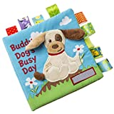 Ablita 1Ud. Educativo Suave Libro de Actividades Bebé Temprano Educación Juguetes Actividad Arrugado Libro de Tela - Perro