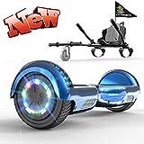 GeekMe Hoverboards mit Sitz,Hoverboards Kinder,Go Kart mit Hoverboards 6,5 Zoll, Elektroroller mit...