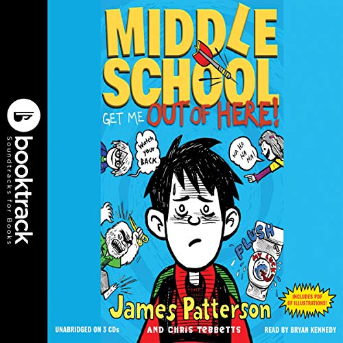 Middle School: Get Me out of Here! audiobook cover art