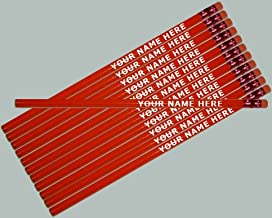 ezpencils - Personalized Red Hexagon Pencils - 12 pkg FREE PERZONALIZATION