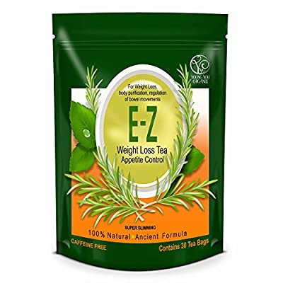 Easy E-Z THE BEST Weight Loss Diet Tea - Appetite Control, Body Cleanse and Detox. One Pound a Day Weight Loss. 30-Count. from Youngyou International