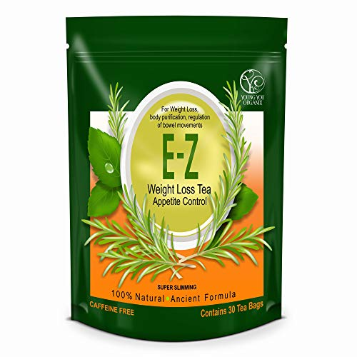 Easy E-Z THE BEST Weight Loss Diet Tea - Appetite Control, Body Cleanse and Detox. One Pound a Day Weight Loss. 30-Count.