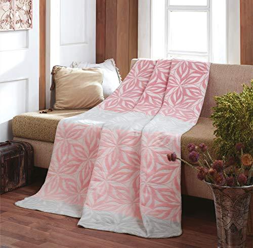 sei Design Plaid Kassandra | Kuscheldecke | Wohndecke | Flauschig weich – hochwertige Verarbeitung, 150 x 200 cm (Mandala Rose-Icegrey)
